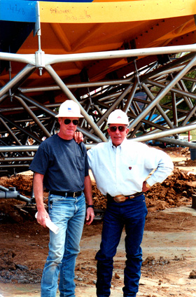 Rick Davis and Bill White at construction site